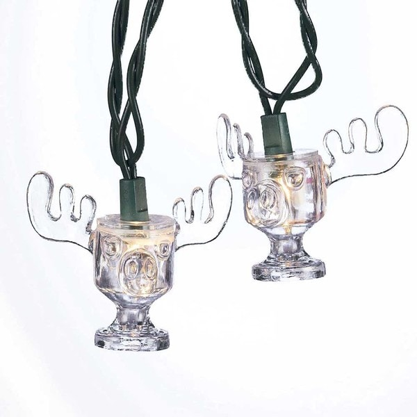 Kurt Adler UL 10-light National Lampoon Christmas Vacation Wally World Moose Mug Light Set