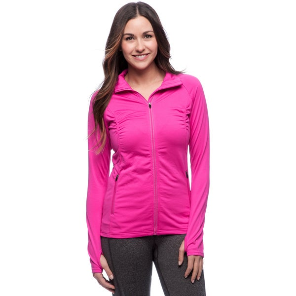 RBX Activewear Women's Brushed Back Mock Neck Jacket