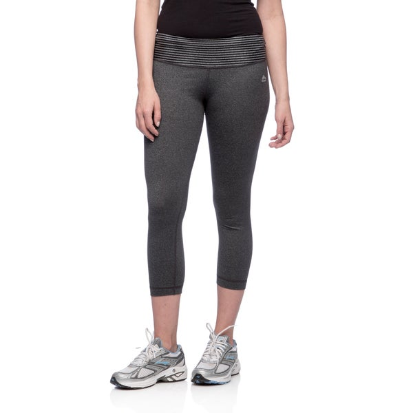 RBX Activewear Women's Striped Yoga Capri Pants