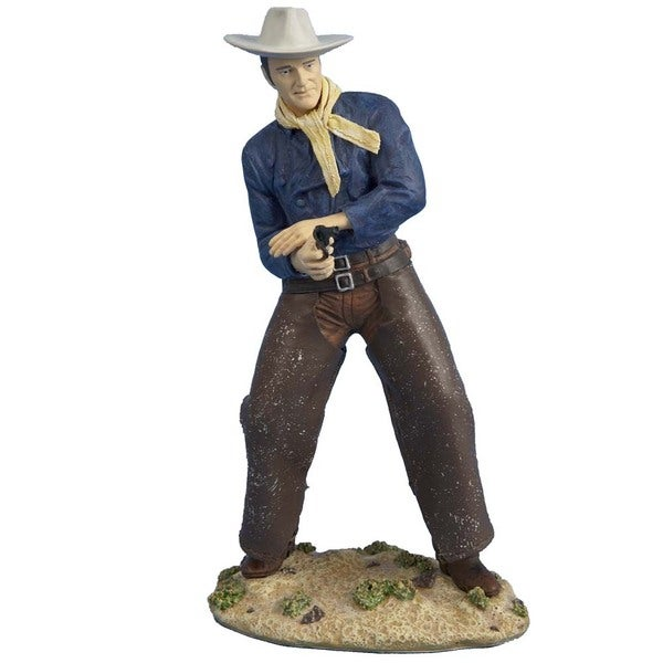 Kurt Adler 8-inch Fabric Mache John Wayne Tablepiece