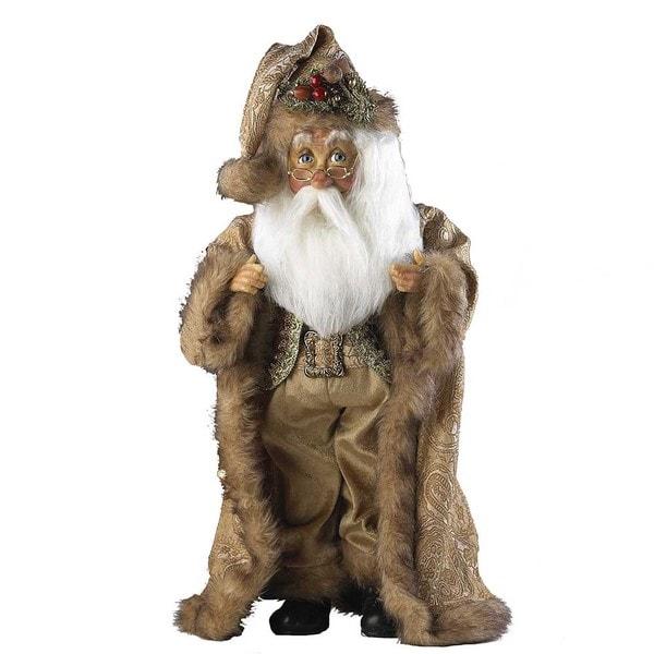 Kurt Adler 18-inch Gold Standing Santa