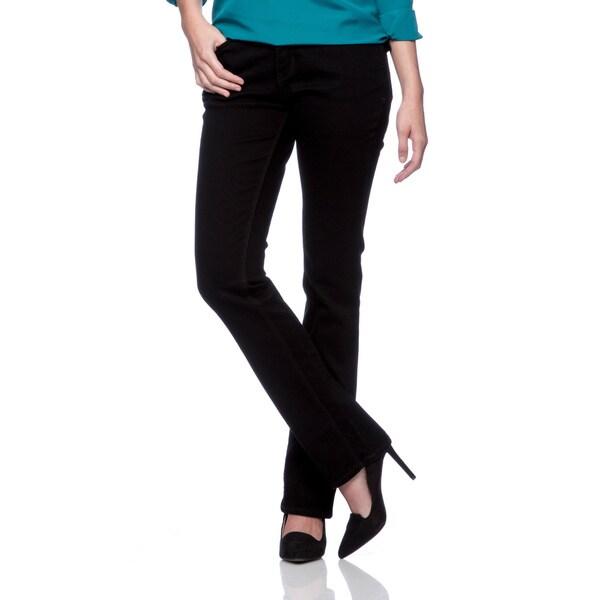 Levi's Women's Black Ink 'Perfect Waist' Straight Leg Jeans
