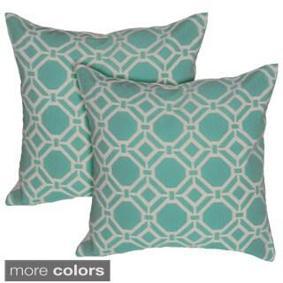 Geometric 17-inch Decorative Throw Pillow