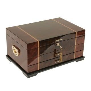 Rustic Burl Wood Jewelry Box