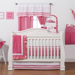 Simplicity Hot Pink 4-piece Crib Bedding Set