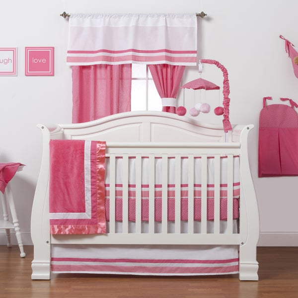 One Grace Place 10-18hp102 4 pc Simplicity Hot Pink Baby Bedding Set: 14209286