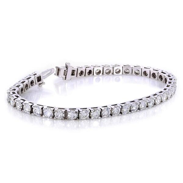 annello 10k white gold 10ct dew moissanite tennis bracelet. Black Bedroom Furniture Sets. Home Design Ideas