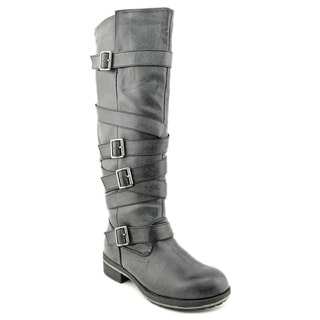 Madden Girl Women's 'Lilith' Black Multi-buckle Boots