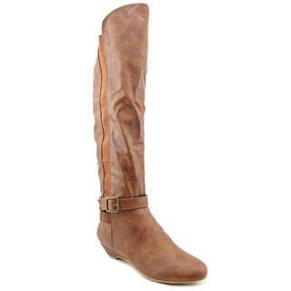 Madden Girl Women's 'Zilch' Cognac Over-the-Knee Fashion Boots