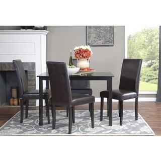Baxton Studio Luna Brown Wood Modern Dining Chair (Set of 2)
