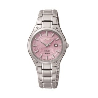 Seiko Women's SUT127 Stainless Steel Solar Pink Dial Watch