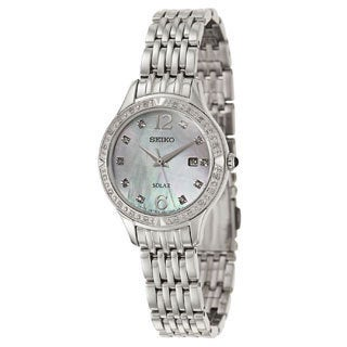 Seiko Women's SUT091 Stainless Steel and Diamond Watch