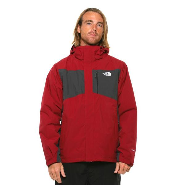 The North Face Men's Tiberius Triclimate Biking Red/ Asphalt Grey Jacket