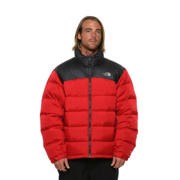 The North Face Men's 'Nuptse 2' TNF Red and Asphalt Jacket