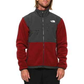The North Face Men's 'Denali' Biking Red and Asphalt Grey Jacket
