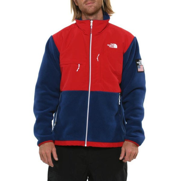 The North Face Men's 'Village Denali' TNF Red/ Estate Blue Jacket
