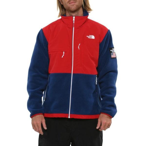 The North Face Men's 'Village Denali' TNF Red/ Estate Blue Jacket