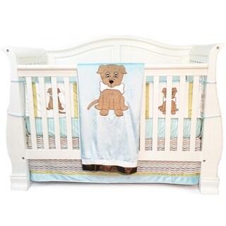 Puppy Pal Boys' 4-piece Crib Bedding Set