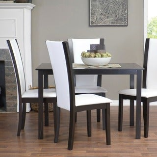 Baxton Studio Rinko Parson White Wood Modern Dining Chair (Set of 2)