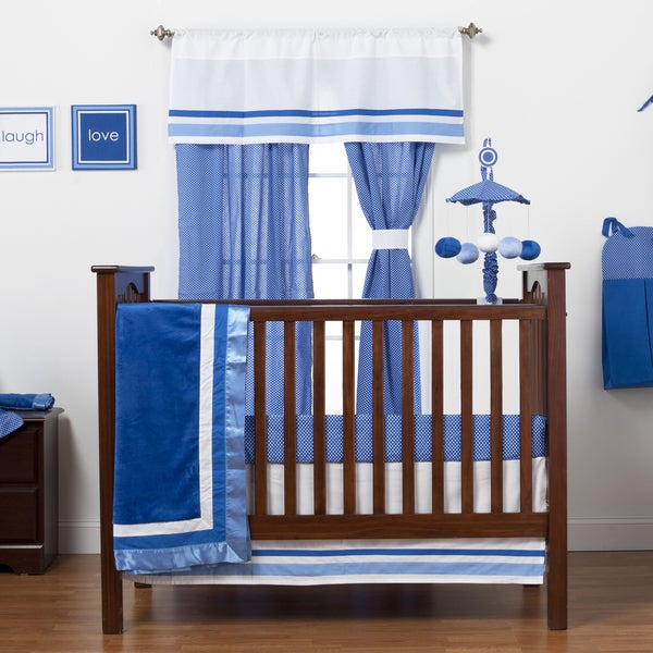 Simpilicity Blue 4-piece Crib Bedding Set