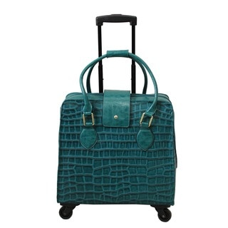 Hang Accessories Teal Vinyl Trolley Bag