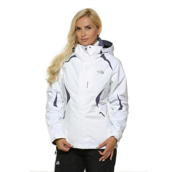 The North Face Women's Boundary Triclimate TNF white/greystone blue Jacket