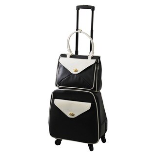Hang Accessories Leatherette 2-piece Carry On Laptop Luggage Set