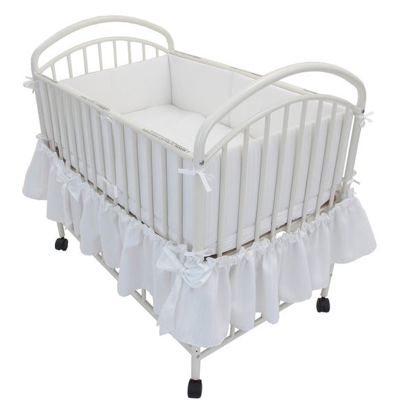 Classic Arched Compact Metal Non-folding Crib