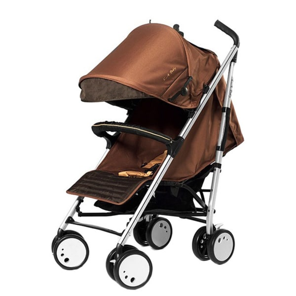 Sherman Blvd Single Stroller in Brown/ Tan