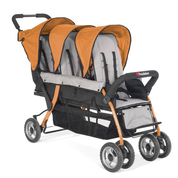 Foundations Trio Sport Tandem Stroller in Orange