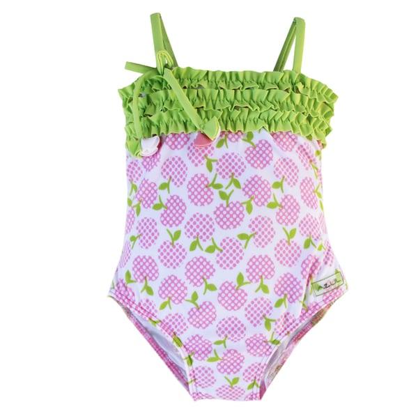 Azul Swimwear Girls 'Garden of Eden' Printed One-piece Swimsuit