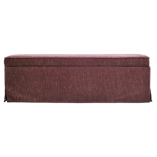 Better Living Blane Brown and Caramel Skirted Wall Hugger Bench Storage Ottoman