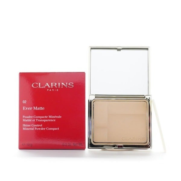 Clarins Ever Matte 02 Transparent Medium Mineral Powder Compact