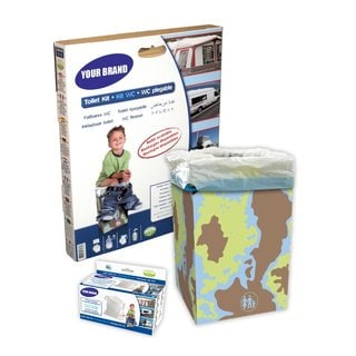Cleanis Portable Foldable Potty/ Reusable Toilet Kit