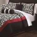 Scarlett 7-piece Flocking Comforter Set