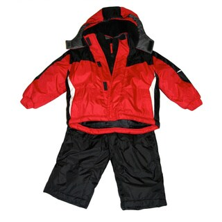 Northpoint Infant Boys Red 2-piece Snowsuit