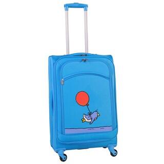 Ed Heck Sky Blue Flying Penguin 24-inch Spinner Upright Suitcase