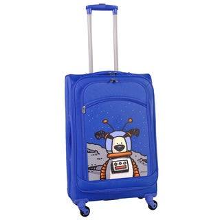 Ed Heck True Blue Moon Dog 24-inch Spinner Upright Suitcase