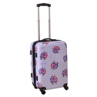 Ed Heck Purple Multi Love Birds 21-inch Carry-on Hardside Spinner Upright Suitcase