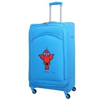Ed Heck Sky Blue Aviator 28-inch Spinner Upright Suitcase