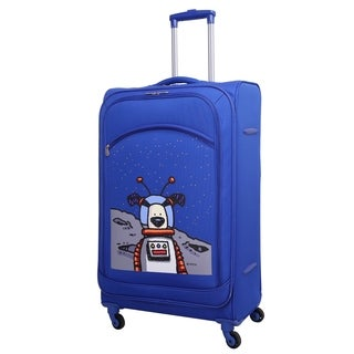 Ed Heck True Blue Moon Dog 28-inch Spinner Upright Suitcase