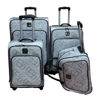 Kenneth Cole Polyester Grey 4-Piece Luggage Set