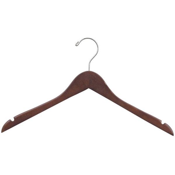 Wooden Walnut Finish Clothes Hanger