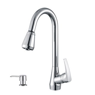 Ruvati RVF1226K1CH Chrome Pullout Spray Kitchen Faucet