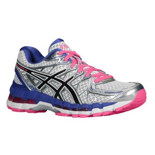 Asics Women's 'Kayano 20' Blue and Pink Running Shoes