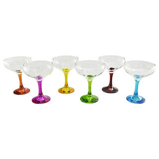 Bight Colored Champagne Glass (Set of 6)