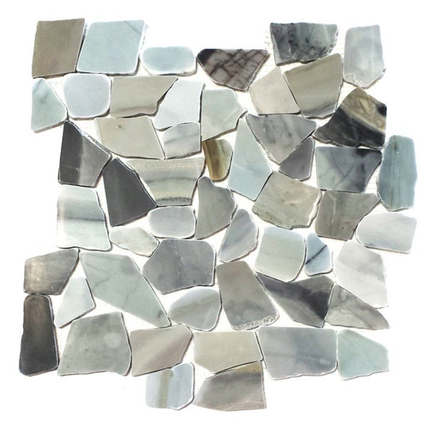 Cinderella Flat Pebble Mesh Tile (Pack of 5)