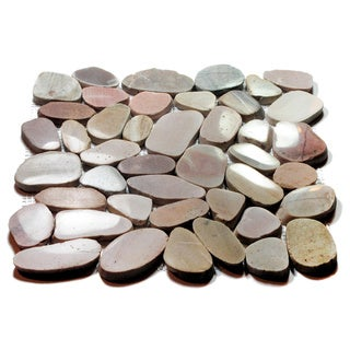 Tuscan Flat Pebble Mesh Tile (Pack of 5)