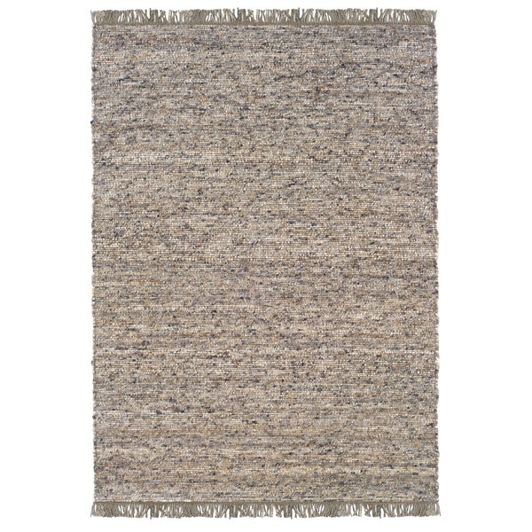 Verginia Berber Dark/ Natural Area Rug (7.10' x 10.4')