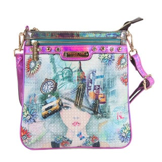 Nicole Lee 'New York New York' Print Crossbody Bag